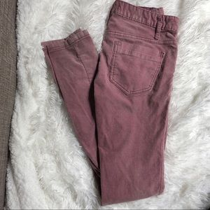Free People Purple Super Skinny Corduroy Pants 26